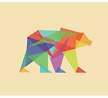 Fractal Geometric Bear Photographic Print