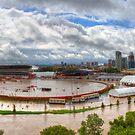 Calgary and Southern Alberta Flood 2013 - South End of Stampede Grounds by JamesA1