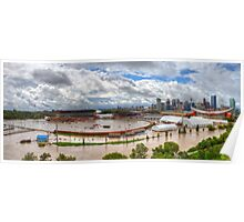 Calgary and Southern Alberta Flood 2013 - South End of Stampede Grounds Poster