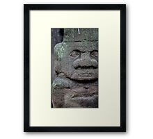 Old  stone idol  Framed Print