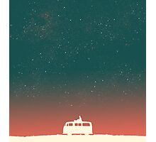 Quiet night starry sky Photographic Print