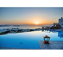 Mykonos-Poolside view  Photographic Print
