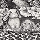 Bunny Rabbit Garden by jkartlife