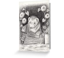 Ferret Portrait Greeting Card