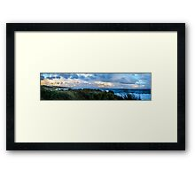 Pano Cliff Framed Print