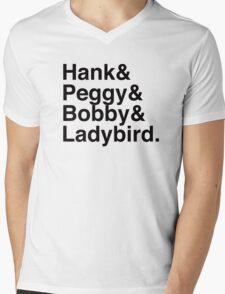 King of the hill helvetica  Mens V-Neck T-Shirt