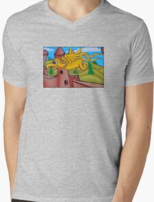 suesslike bird in flight Mens V-Neck T-Shirt