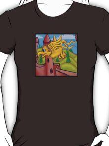 suesslike bird in flight (square) t T-Shirt