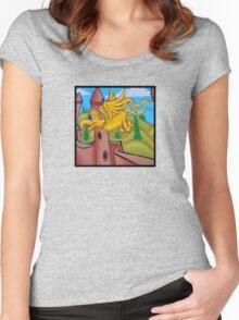suesslike bird in flight (square) t Women's Fitted Scoop T-Shirt