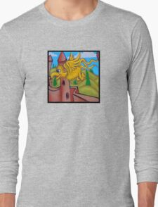 suesslike bird in flight (square) t Long Sleeve T-Shirt