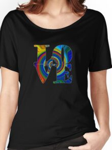 color spiral square love t Women's Relaxed Fit T-Shirt