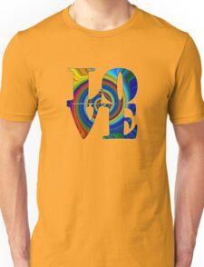 color spiral square love t Unisex T-Shirt