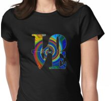 color spiral square love t Womens Fitted T-Shirt