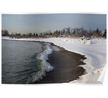 Winter Beach - Lake Ontario, Toronto, Canada Poster