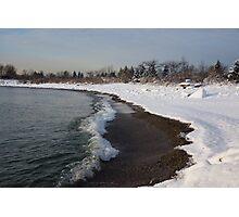 Winter Beach - Lake Ontario, Toronto, Canada Photographic Print