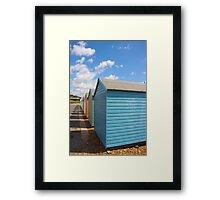 Beach huts. Framed Print