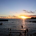 West Wemyss Harbour Sunset by Charles  Staig