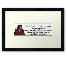 And I Feel Terrible Lady Parks and Recreation Framed Print