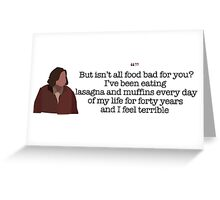 And I Feel Terrible Lady Parks and Recreation Greeting Card