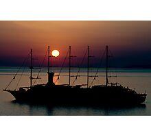Sunset from Mykonos  Photographic Print