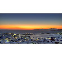 Sunset from Mykonos-Panoramic view Photographic Print