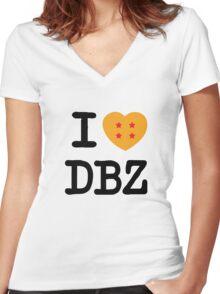 I Love DBZ Women's Fitted V-Neck T-Shirt