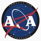 Amnesty For Astronauts Circle Logo (White) by Christian Byerly