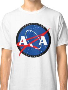 Amnesty For Astronauts Circle Logo (White) Classic T-Shirt