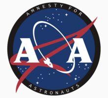Amnesty For Astronauts Circle Logo (Black) T-Shirt