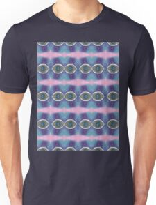 black and blue eyes with pink Unisex T-Shirt