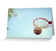 Basketball Shot Greeting Card