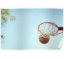 Basketball Shot Poster