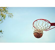 Basketball Shot Photographic Print
