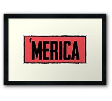 'merica Banner Framed Print