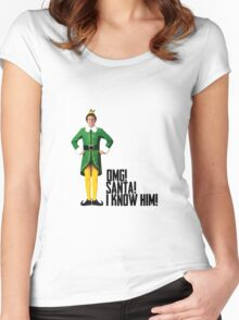 Elf - Will Ferrell   Buddy - Christmas Quote - Funny Women's Fitted Scoop T-Shirt