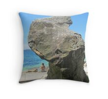 Rock at Shark Bay Throw Pillow