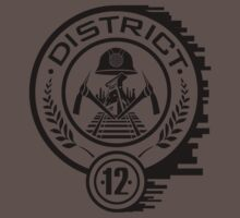 HUNGER GAMES DISTRICT 12 T-SHIRT by ricorso