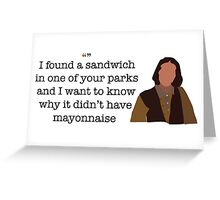 Mayonnaise Lady Parks and Recreation Greeting Card