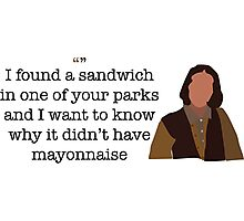 Mayonnaise Lady Parks and Recreation Photographic Print
