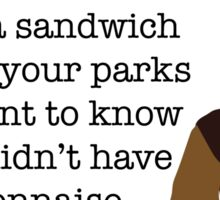 Mayonnaise Lady Parks and Recreation Sticker