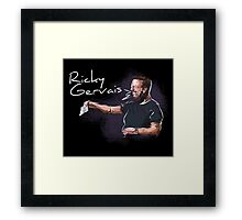 Ricky Gervais - Comic Timing Framed Print