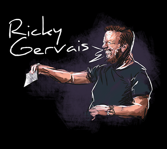 Ricky Gervais - Comic Timing by uberdoodles