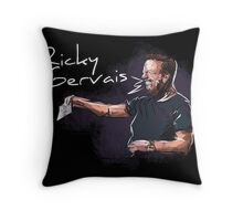 Ricky Gervais - Comic Timing Throw Pillow