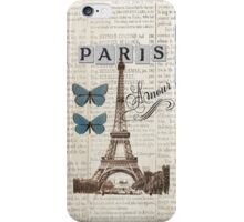 Blue Eiffel Tower with Butterflies Phone Cover iPhone Case/Skin