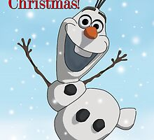 Olaf - Christmas Card Disney by tinylittlebird