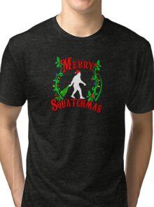 Merry Squatchmas  Tri-blend T-Shirt