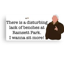 I Wanna Sit More Guy Parks and Recreation Canvas Print