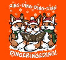 """""""What does the Fox Sing"""" (T-shirts) Kids Tee"""