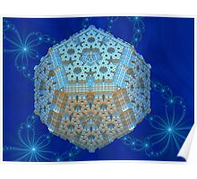 Snowflake 3D Bauble Poster