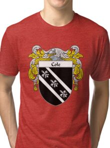 Cole Coat of Arms/Family Crest Tri-blend T-Shirt